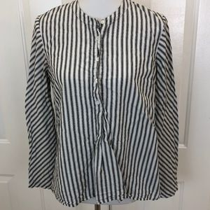 Madewell Women's Off-White Striped Long Sleeve Top